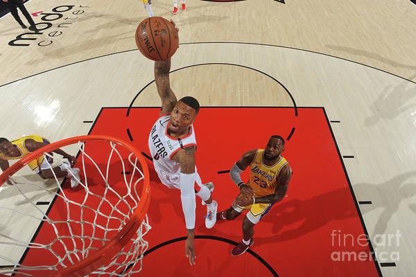 Nba Pro Basketball Art Print featuring the photograph Damian Lillard by Andrew D. Bernstein