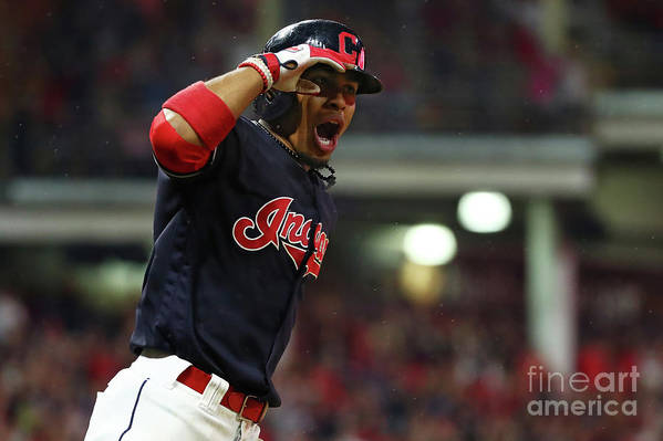 Game Two Art Print featuring the photograph Francisco Lindor by Gregory Shamus