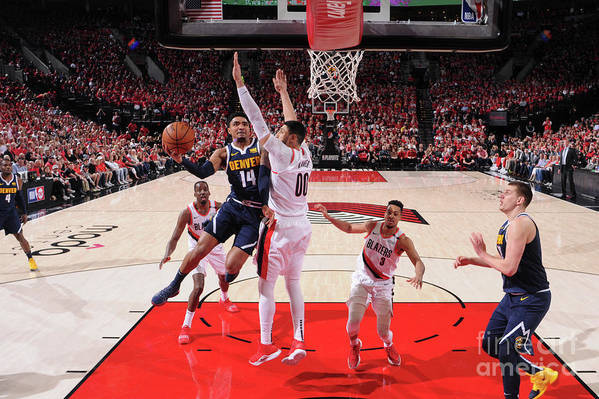 Playoffs Art Print featuring the photograph Gary Harris by Sam Forencich