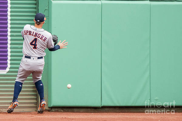 People Art Print featuring the photograph George Springer by Billie Weiss/boston Red Sox