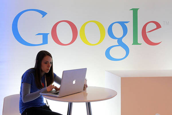 Working Art Print featuring the photograph Google Holds News Conference by Justin Sullivan