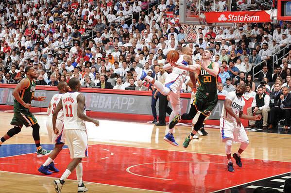 Playoffs Art Print featuring the photograph Gordon Hayward by Andrew D. Bernstein
