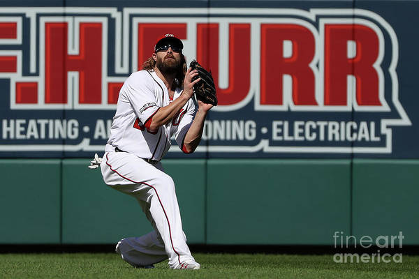 Game Two Art Print featuring the photograph Jayson Werth by Patrick Smith