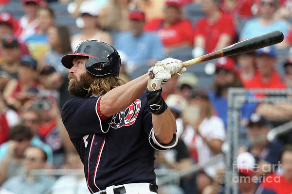 Following Art Print featuring the photograph Jayson Werth by Rob Carr