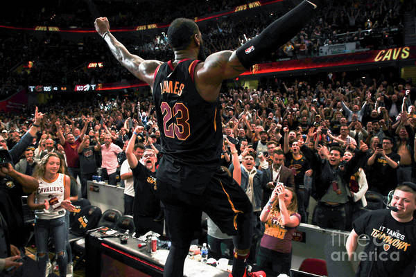 Playoffs Art Print featuring the photograph Lebron James by Jeff Haynes