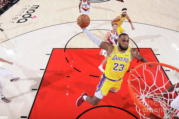 Nba Pro Basketball Art Print featuring the photograph Lebron James by Sam Forencich