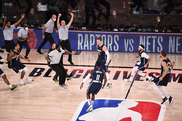 Playoffs Art Print featuring the photograph Los Angeles Clippers v Dallas Mavericks - Game Four by David Dow