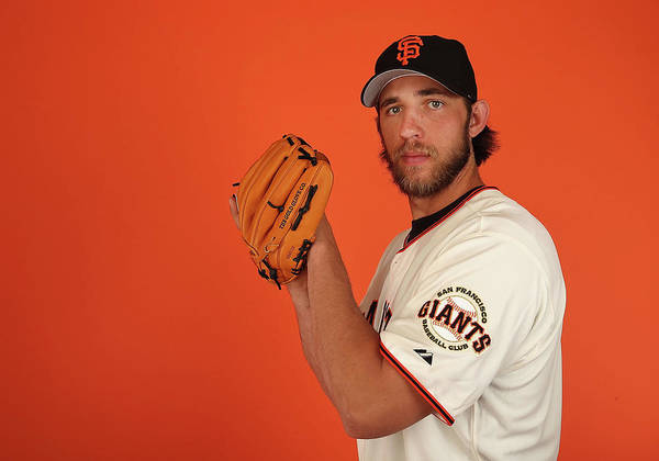 Media Day Art Print featuring the photograph Madison Bumgarner by Christian Petersen