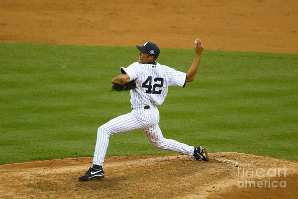 American League Baseball Art Print featuring the photograph Mariano Rivera by Al Bello