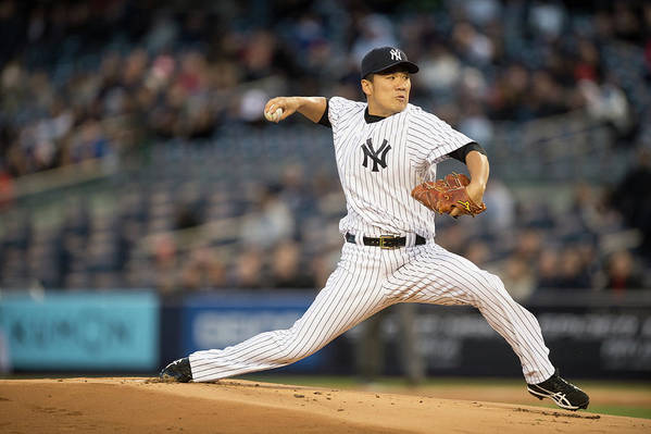 American League Baseball Art Print featuring the photograph Masahiro Tanaka by Rob Tringali