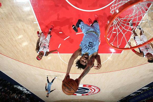 Nba Pro Basketball Art Print featuring the photograph Memphis Grizzlies v Washington Wizards by Stephen Gosling