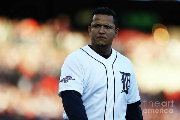 American League Baseball Art Print featuring the photograph Miguel Cabrera by Leon Halip