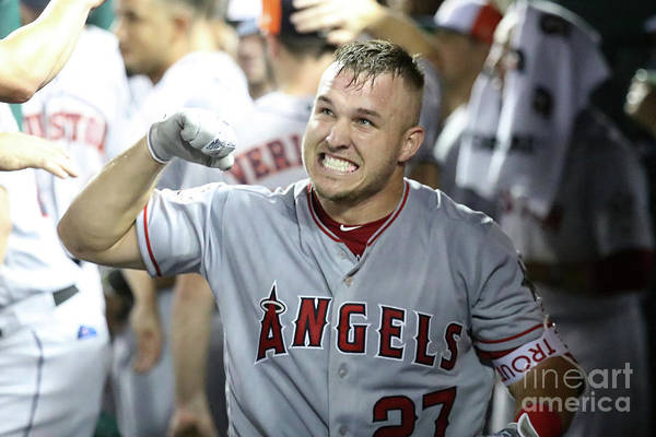 People Art Print featuring the photograph Mike Trout by Rob Carr