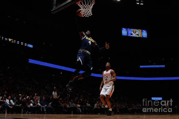 Nba Pro Basketball Art Print featuring the photograph Paul Millsap by Bart Young