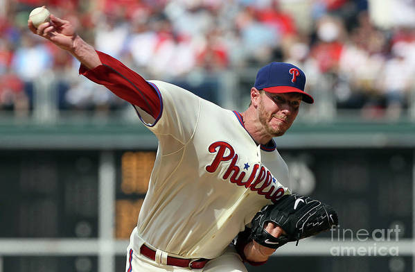 Citizens Bank Park Art Print featuring the photograph Roy Halladay by Jim Mcisaac