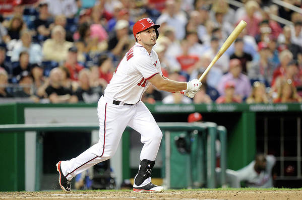 American League Baseball Art Print featuring the photograph Ryan Zimmerman by Greg Fiume