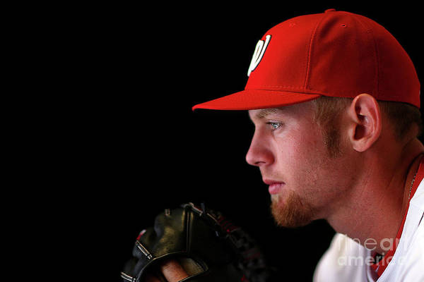 Media Day Art Print featuring the photograph Stephen Strasburg by Mike Ehrmann