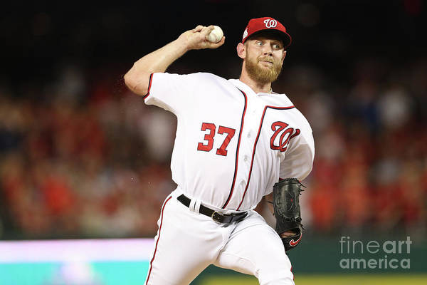 Three Quarter Length Art Print featuring the photograph Stephen Strasburg by Patrick Smith