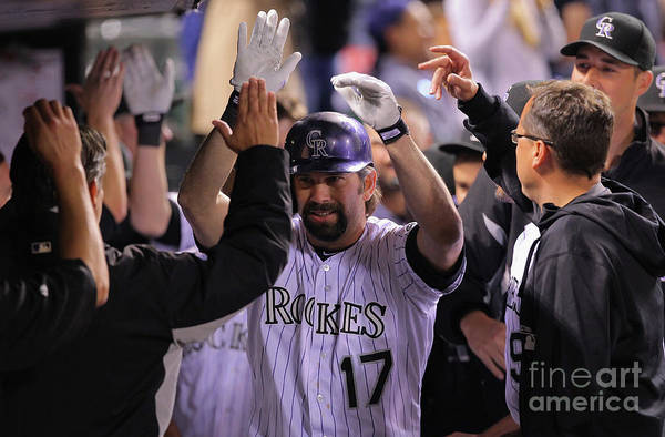 Ninth Inning Art Print featuring the photograph Todd Helton by Doug Pensinger