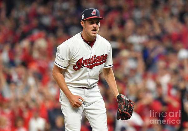 Three Quarter Length Art Print featuring the photograph Trevor Bauer by Jason Miller