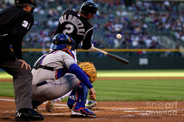 People Art Print featuring the photograph Troy Tulowitzki by Justin Edmonds