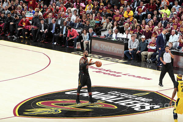 Playoffs Art Print featuring the photograph Lebron James by Nathaniel S. Butler