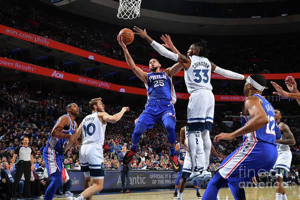 Nba Pro Basketball Art Print featuring the photograph Ben Simmons by Jesse D. Garrabrant