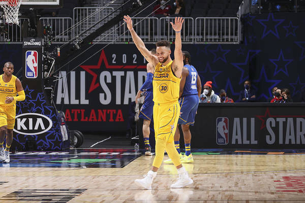 Atlanta Art Print featuring the photograph Stephen Curry by Nathaniel S. Butler
