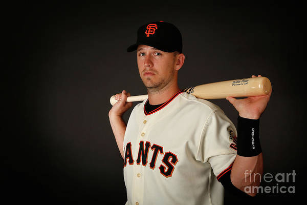 Media Day Art Print featuring the photograph Buster Posey by Christian Petersen