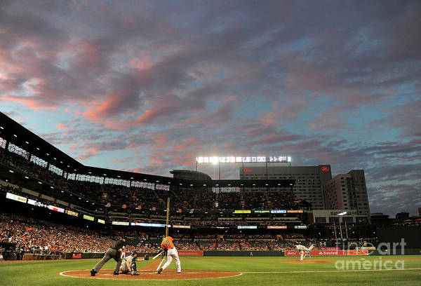 Second Inning Art Print featuring the photograph Chris Davis by Greg Fiume