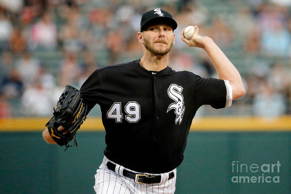 Three Quarter Length Art Print featuring the photograph Chris Sale by Jon Durr
