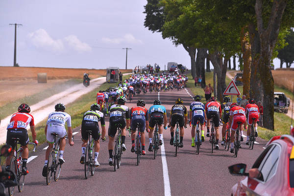 Peloton Art Print featuring the photograph Cycling: 104th Tour de France 2017 / Stage 7 by Tim de Waele