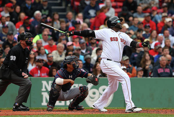 People Art Print featuring the photograph David Ortiz by Jim Rogash