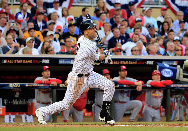 American League Baseball Art Print featuring the photograph Derek Jeter by Rob Carr