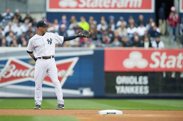 East Art Print featuring the photograph Derek Jeter by Rob Tringali
