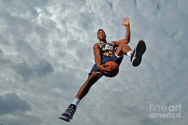Nba Pro Basketball Art Print featuring the photograph Donovan Mitchell by Jesse D. Garrabrant