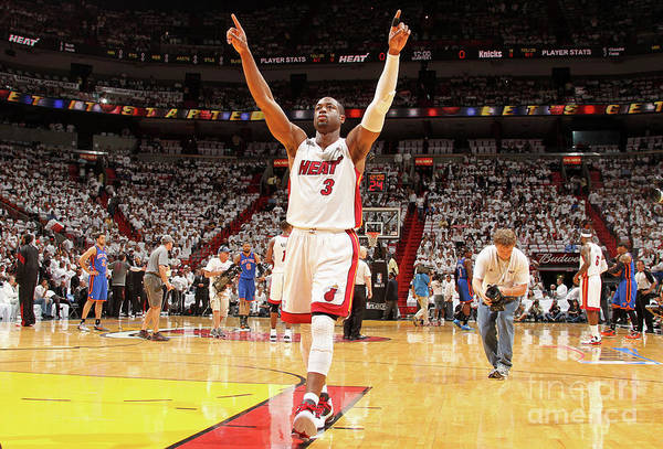 Playoffs Art Print featuring the photograph Dwyane Wade by Nathaniel S. Butler