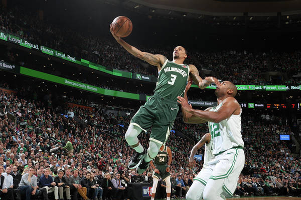 Playoffs Art Print featuring the photograph George Hill by Nathaniel S. Butler