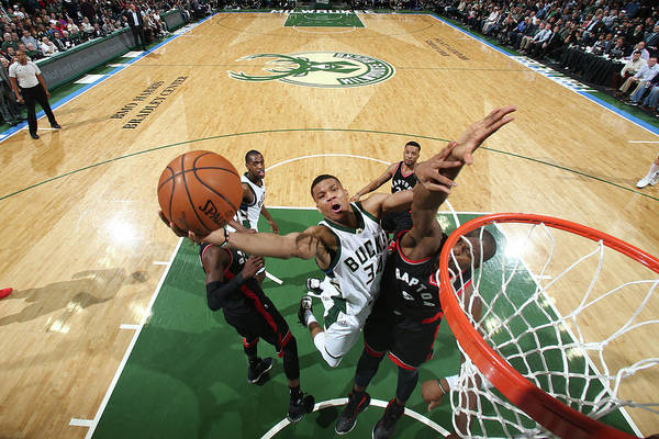 Playoffs Art Print featuring the photograph Giannis Antetokounmpo by Nathaniel S. Butler