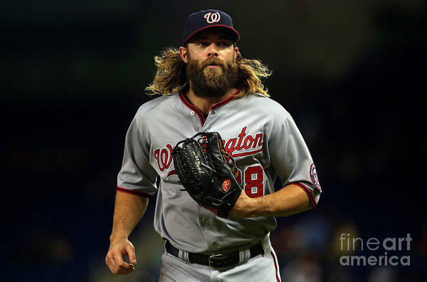 American League Baseball Art Print featuring the photograph Jayson Werth by Mike Ehrmann