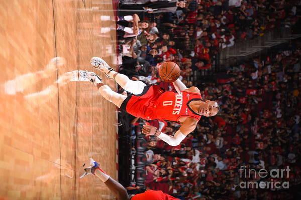 Nba Pro Basketball Art Print featuring the photograph Russell Westbrook by Bill Baptist