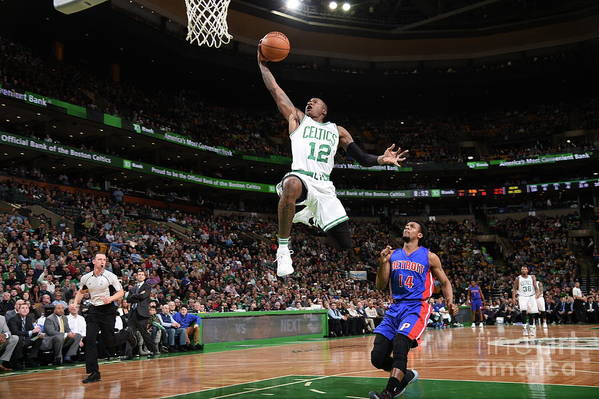 Nba Pro Basketball Art Print featuring the photograph Terry Rozier by Brian Babineau