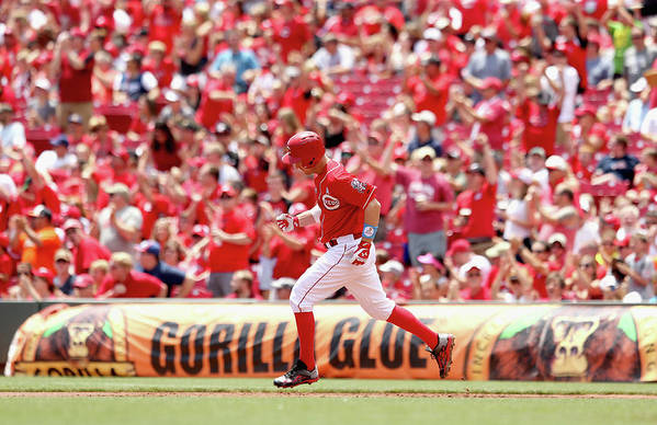 Great American Ball Park Art Print featuring the photograph Todd Frazier by Andy Lyons