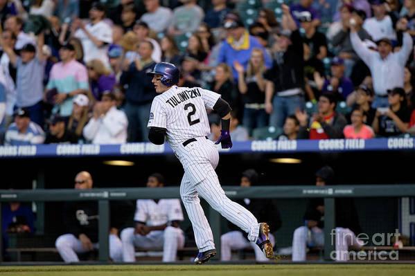 National League Baseball Art Print featuring the photograph Troy Tulowitzki by Justin Edmonds