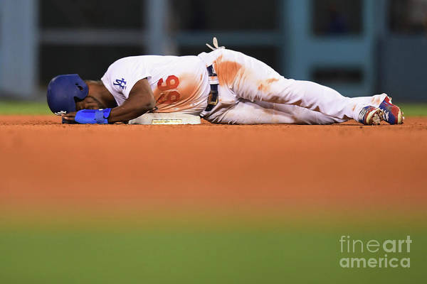 Game Two Art Print featuring the photograph Yasiel Puig by Harry How