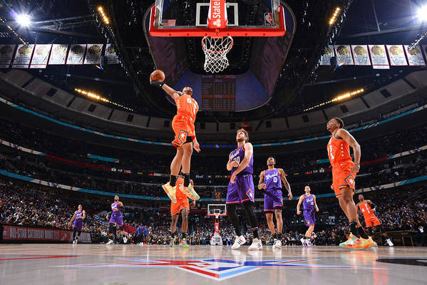 Nba Pro Basketball Art Print featuring the photograph 2020 NBA All-Star - Rising Stars Game by Jesse D. Garrabrant