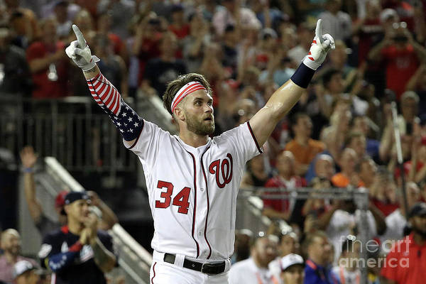 People Art Print featuring the photograph Bryce Harper by Patrick Smith