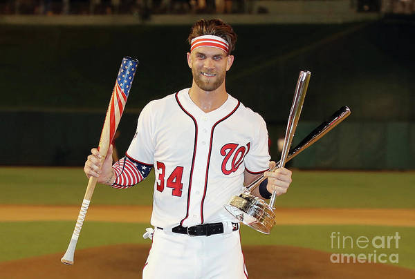 Three Quarter Length Art Print featuring the photograph Bryce Harper by Rob Carr