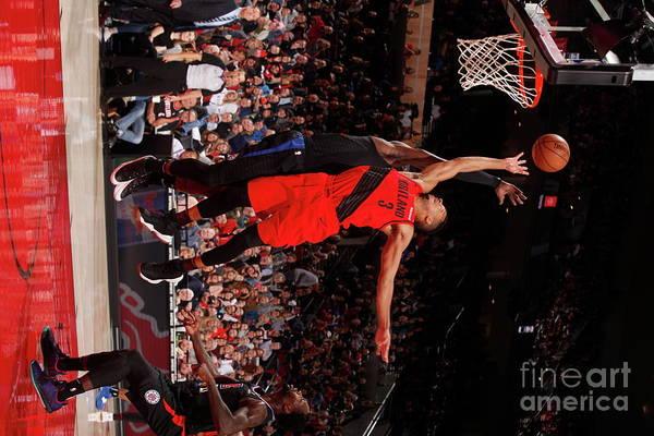 Nba Pro Basketball Art Print featuring the photograph C.j. Mccollum by Cameron Browne