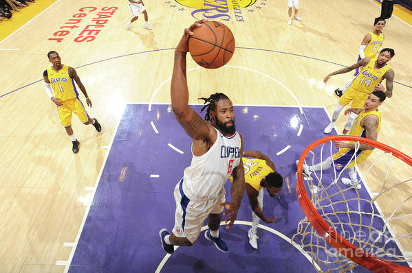 Nba Pro Basketball Art Print featuring the photograph Deandre Jordan by Andrew D. Bernstein